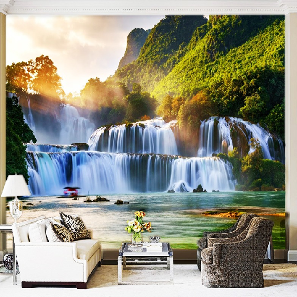 Wallpaper Custom Wallpaper 3d Wallpaper Dinding Air Terjun Waterfall 90