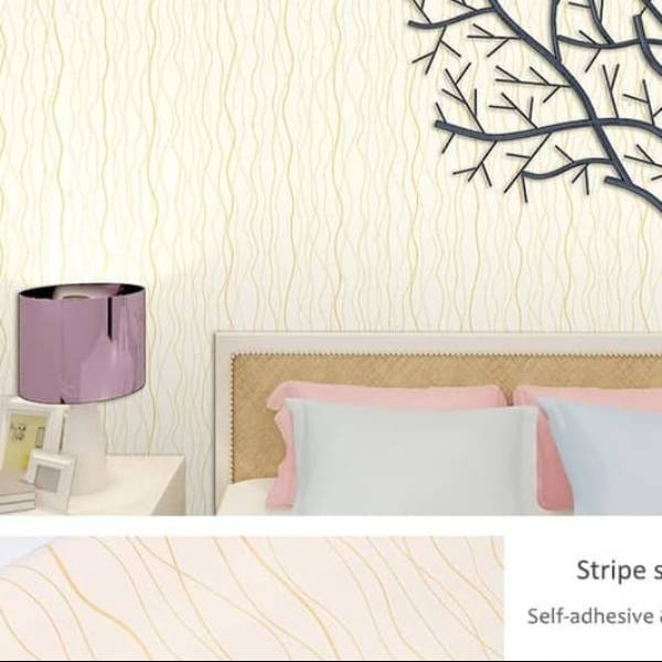 WALLPAPER MOTIF SALUR WALLPAPER STICKER 45CM X 10M KODE ZF139