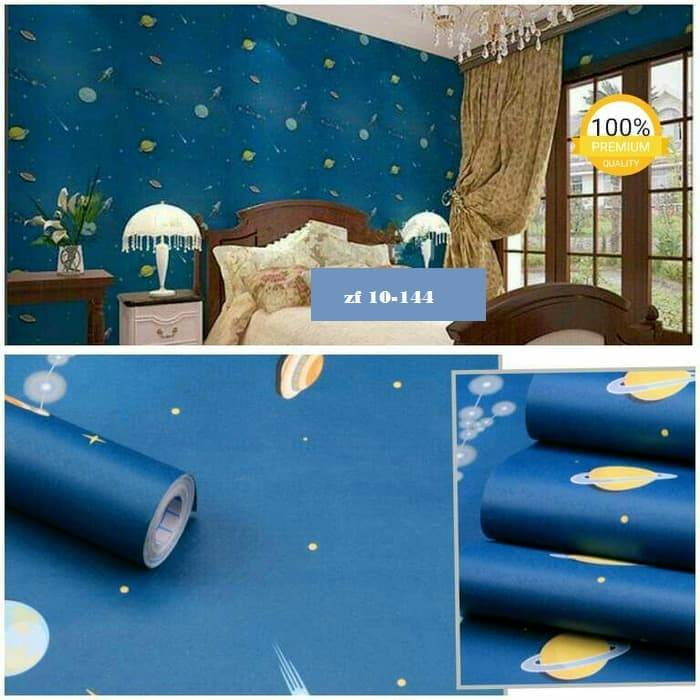 WALLPAPER PLANET WALLPAPER STICKER 45CM X 10M KODE ZF1440