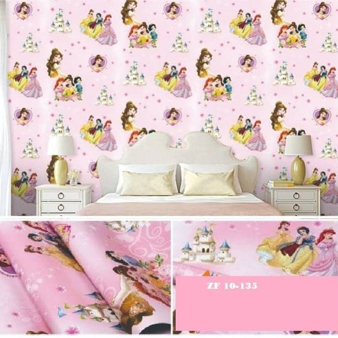 WALLPAPER DISNEY PUTRI PRINCESS WALLPAPER STICKER 45CM X 10M KODE ZF135