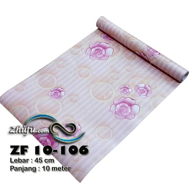 WALLPAPER BUNGA WALLPAPER STICKER 45CM X 10M KODE ZF106