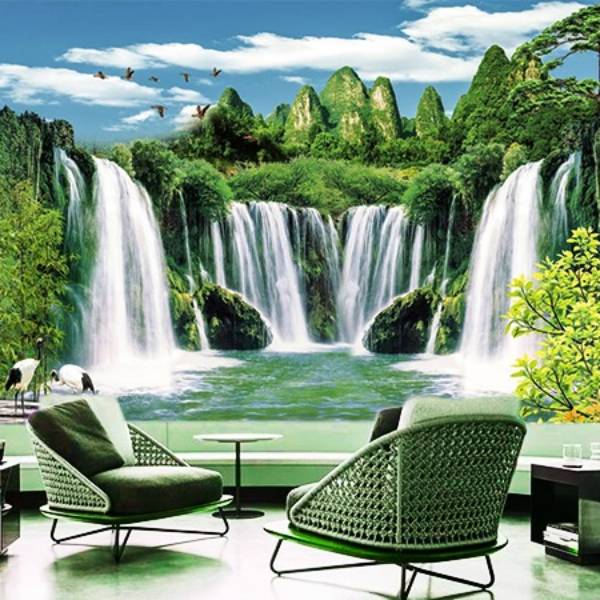 Wallpaper Custom Wallpaper 3d Wallpaper Dinding Air Terjun Waterfall 11