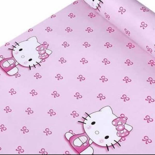 WALLPAPER ANAK WALLPAPER STICKER 45CM X 10M KODE ZF101 HELLO KITTY