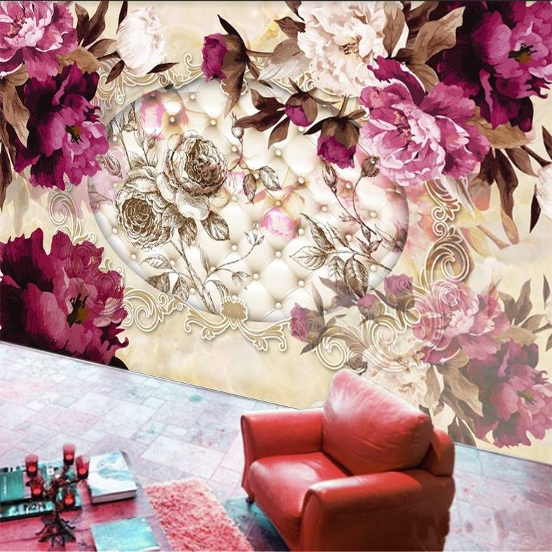 Wallpaper Custom Wallpaper 3d Wallpaper Dinding Bunga Flower 2