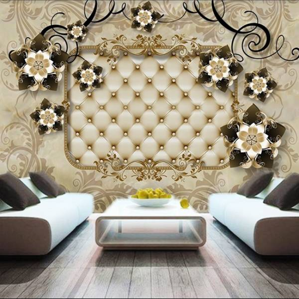 Wallpaper Custom Wallpaper 3d Wallpaper Dinding Bunga Flower 3