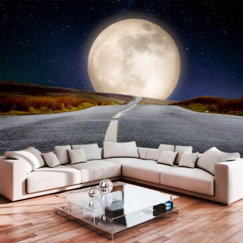 Wallpaper Kustom Wallpaper 3d Wallpaper Dinding Langit Malam Bulan