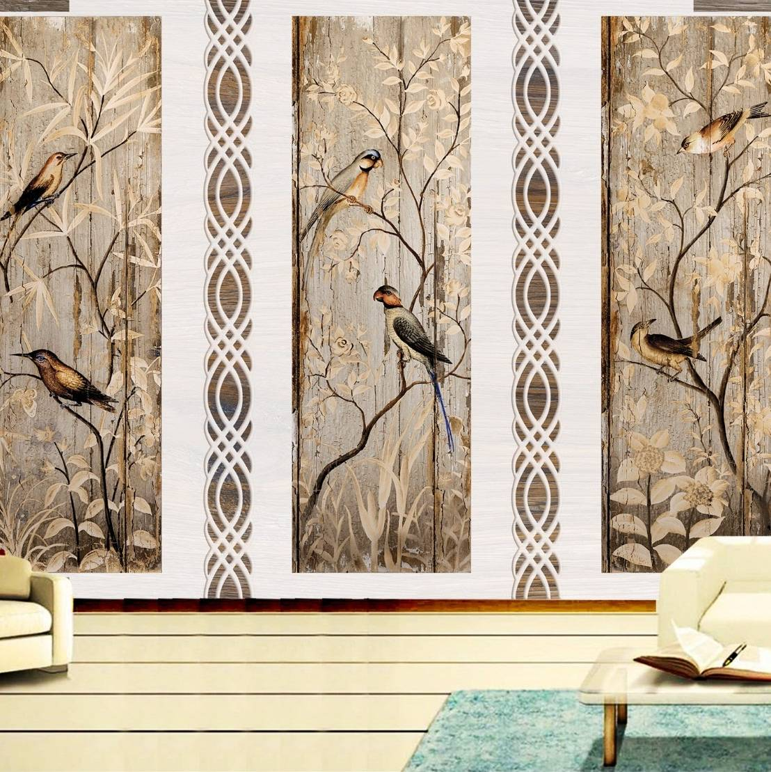 Wallpaper Custom Wallpaper 3d Wallpaper Dinding Burung Bird