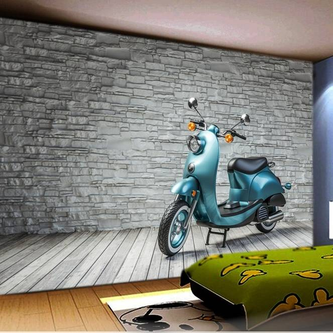 Wallpaper Custom Wallpaper 3d Wallpaper Dinding Motor