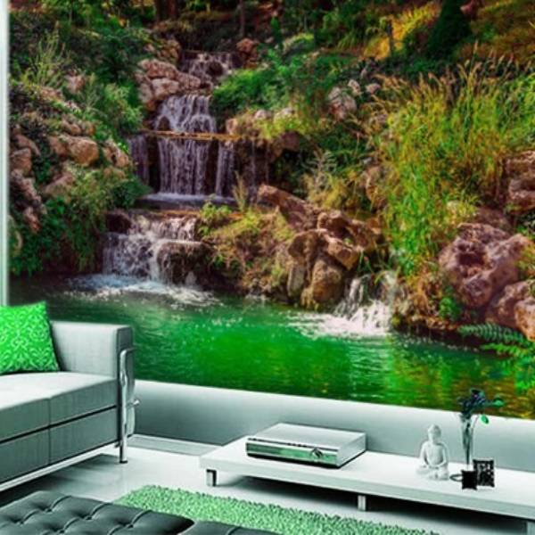 Wallpaper Custom Wallpaper 3d Wallpaper Dinding Air Terjun Waterfall 14
