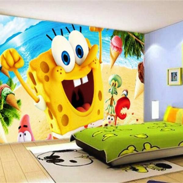 Wallpaper Custom Wallpaper 3d Wallpaper Dinding SPONGEBOB