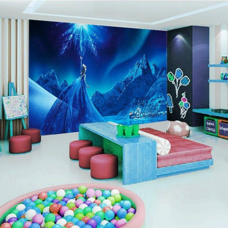 Wallpaper Custom Wallpaper 3d Wallpaper Dinding ANAK FROZEN