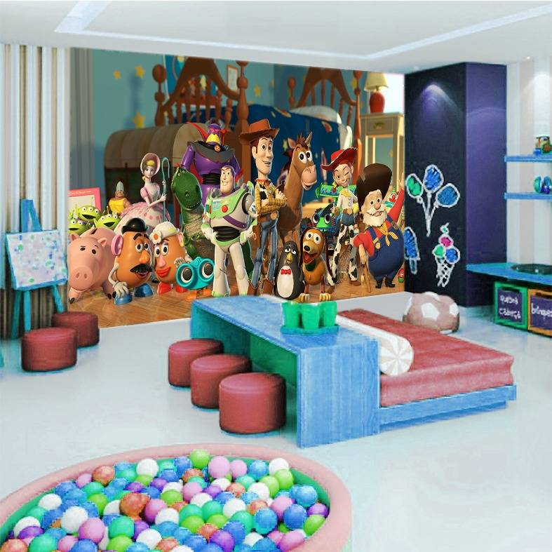 3D Custom Wallpaper Dinding | Motif Toy Story - KDS - 036