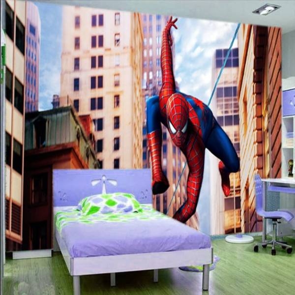 3D Custom Wallpaper Dinding | Motif Spiderman - KDS - 0680