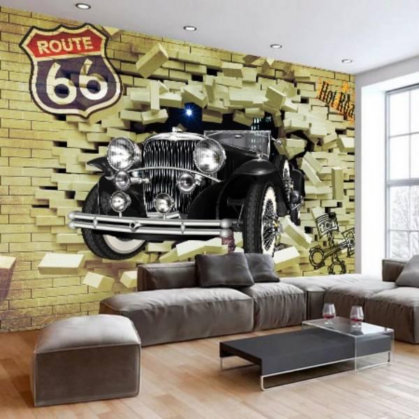 Wallpaper Custom Wallpaper 3d Dinding MOBIL CLASIK