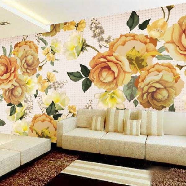 Wallpaper Custom Wallpaper 3d Wallpaper Dinding BUNGA