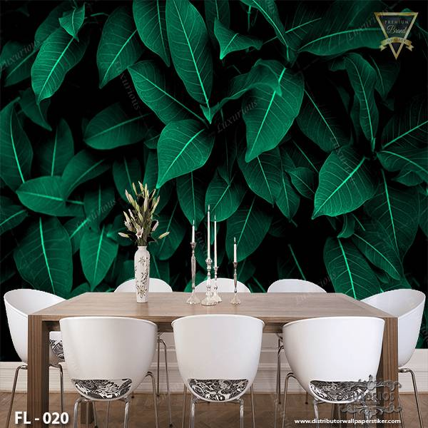 3D Wallpaper Custom Wallpaper Dinding - Flower FL - 0201