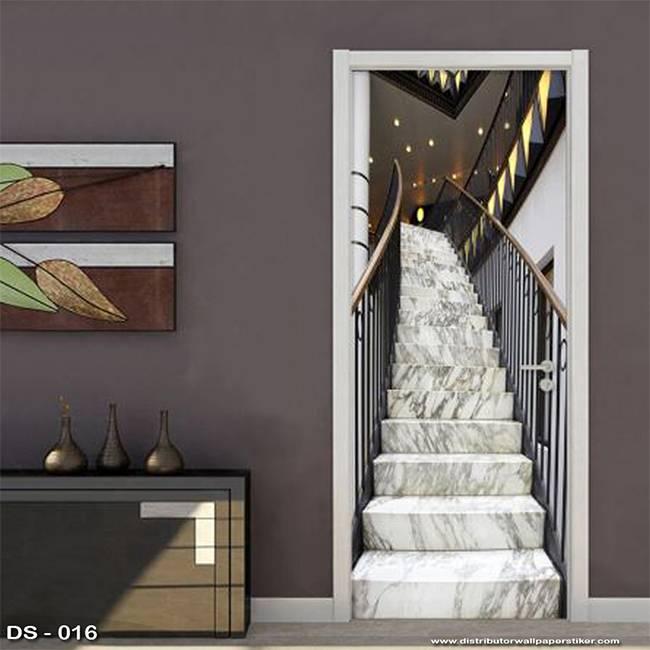3D Door Sticker Custom | Uk 77 x 200 cm - DS - 016 Stair1