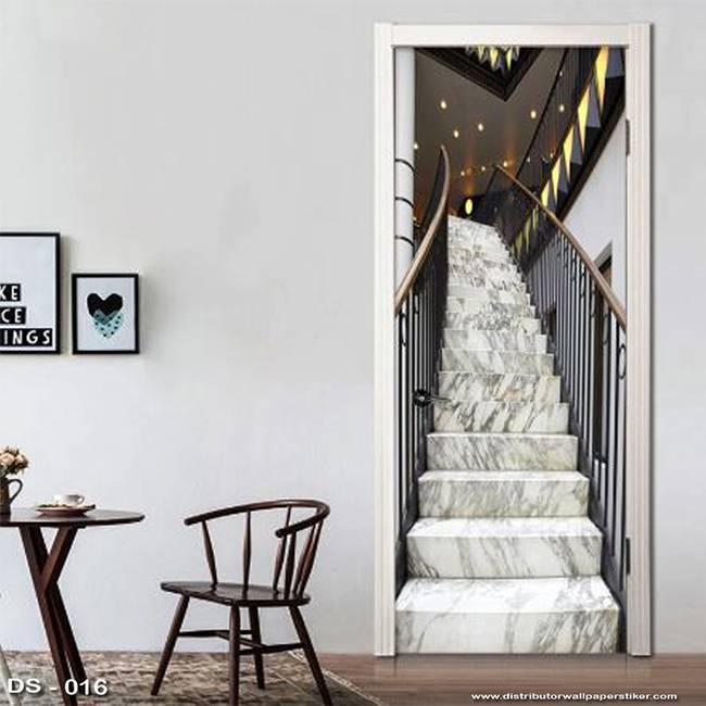 3D Door Sticker Custom | Uk 77 x 200 cm - DS - 016 Stair2
