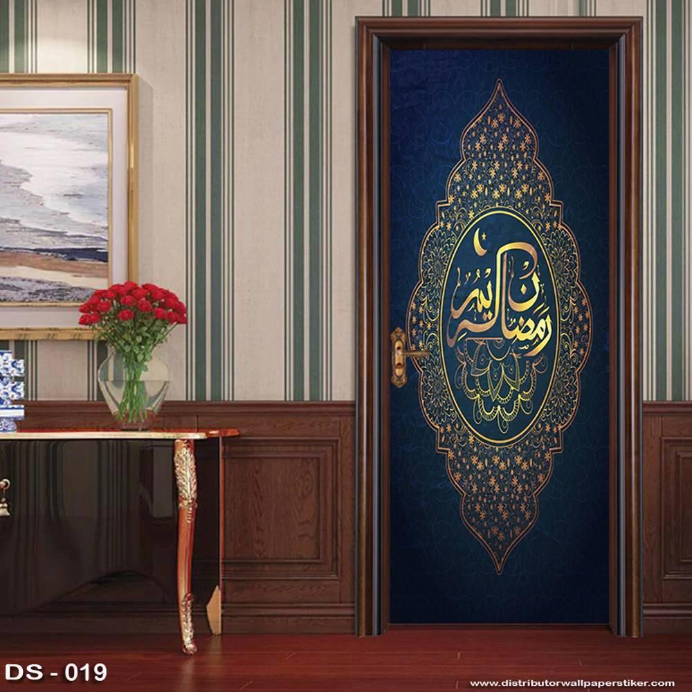 3D Door Sticker Custom | Uk 77 x 200 cm - DS - 019 Motif Islami0