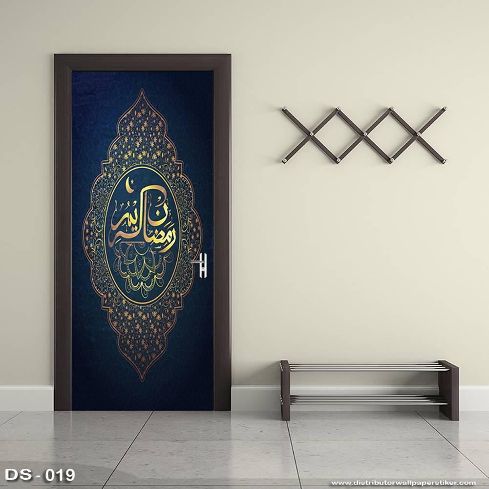 3D Door Sticker Custom | Uk 77 x 200 cm - DS - 019 Motif Islami1