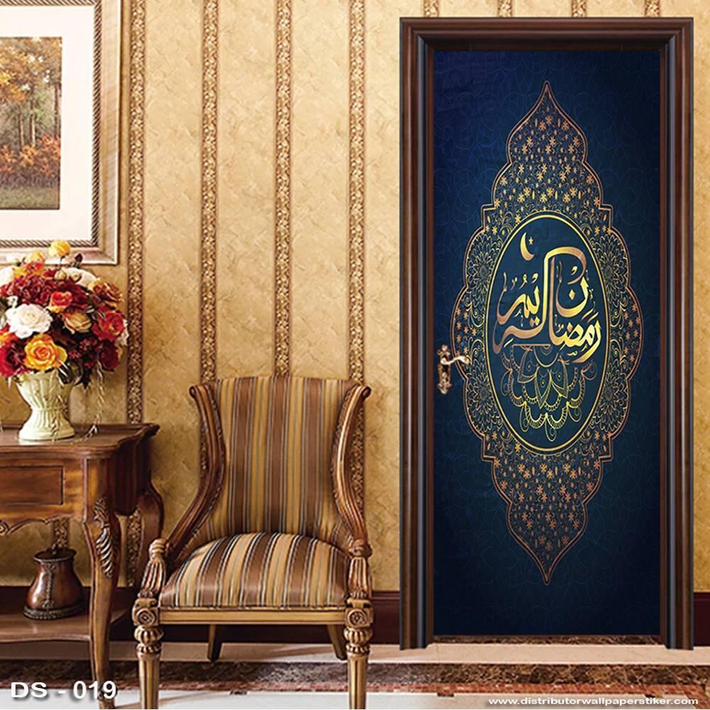 3D Door Sticker Custom | Uk 77 x 200 cm - DS - 019 Motif Islami2