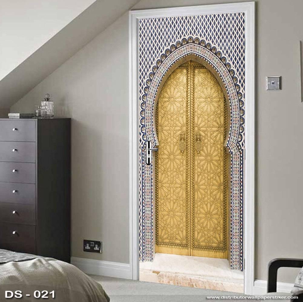 3D Door Sticker Custom | Uk 77 x 200 cm - DS - 021 Motif Islami0