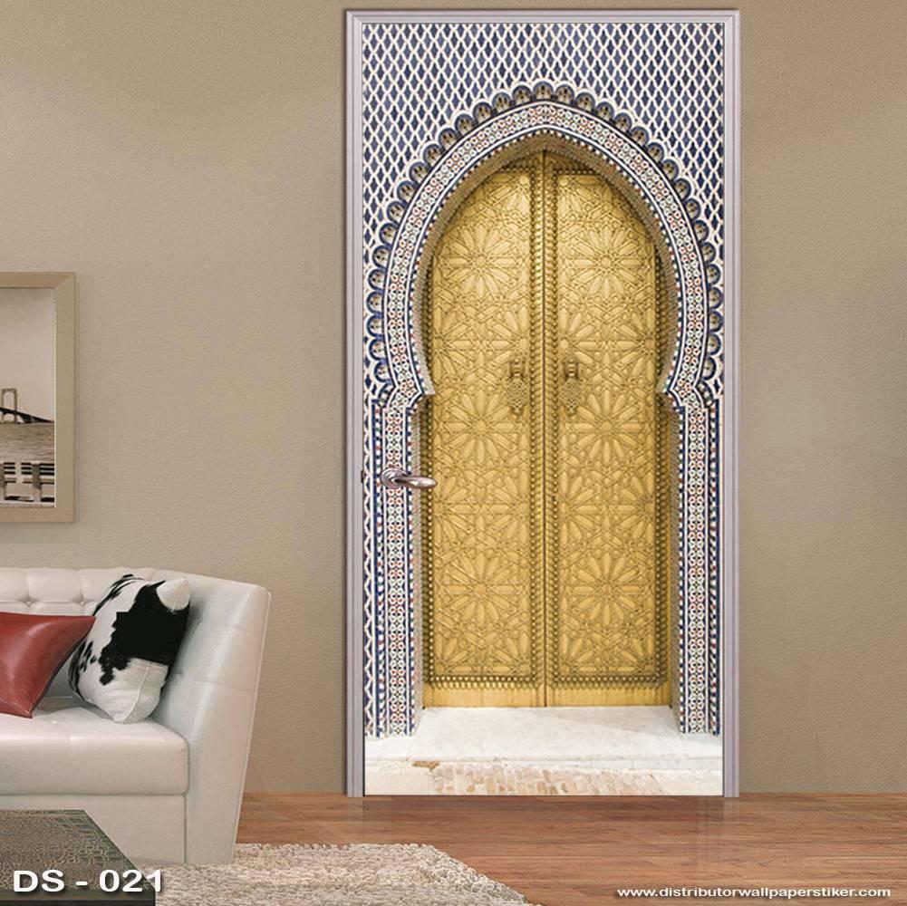 3D Door Sticker Custom | Uk 77 x 200 cm - DS - 021 Motif Islami1