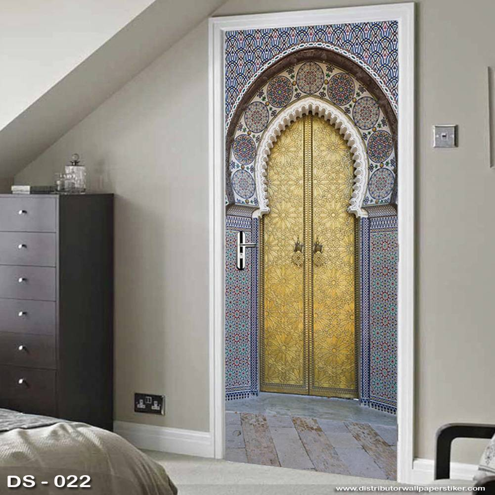 3D Door Sticker Custom | Uk 77 x 200 cm - DS - 022 Motif Islami