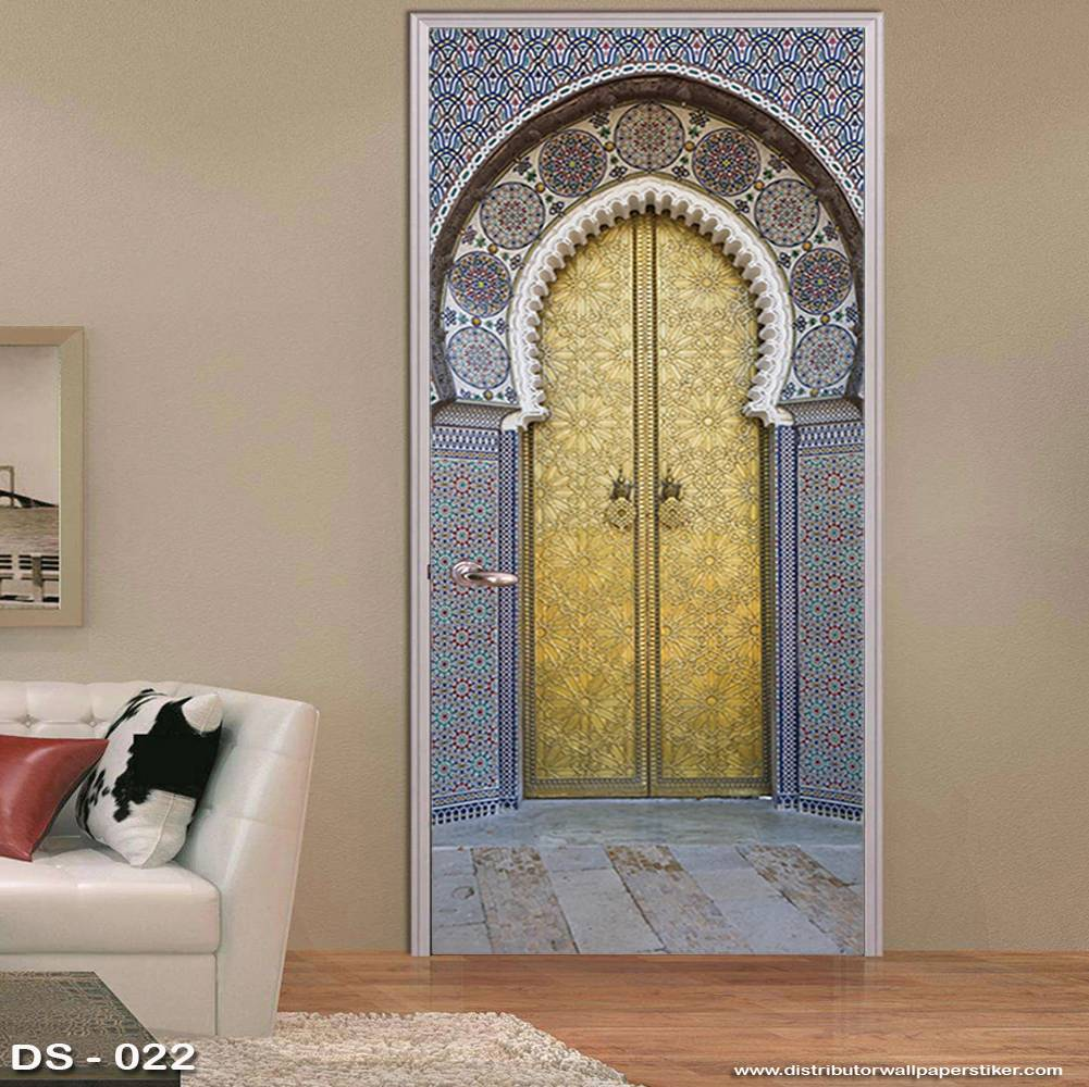 3D Door Sticker Custom | Uk 77 x 200 cm - DS - 022 Motif Islami2
