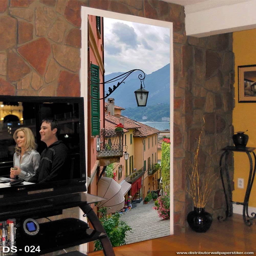 3D Door Sticker Custom | Uk 77 x 200 cm - DS - 024 Motif Nature1