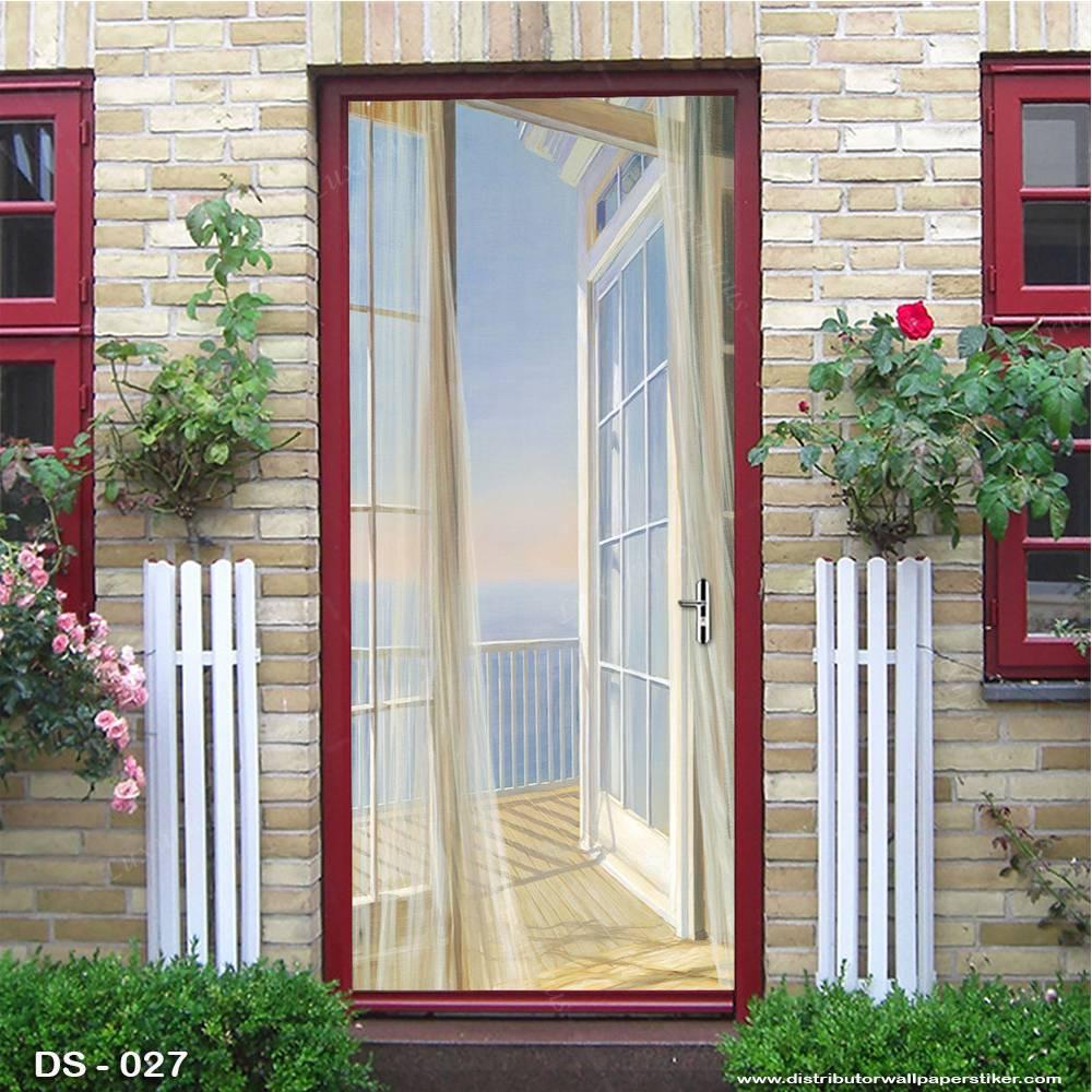 3D Door Sticker Custom | Uk 77 x 200 cm - DS - 027 Motif Nature1