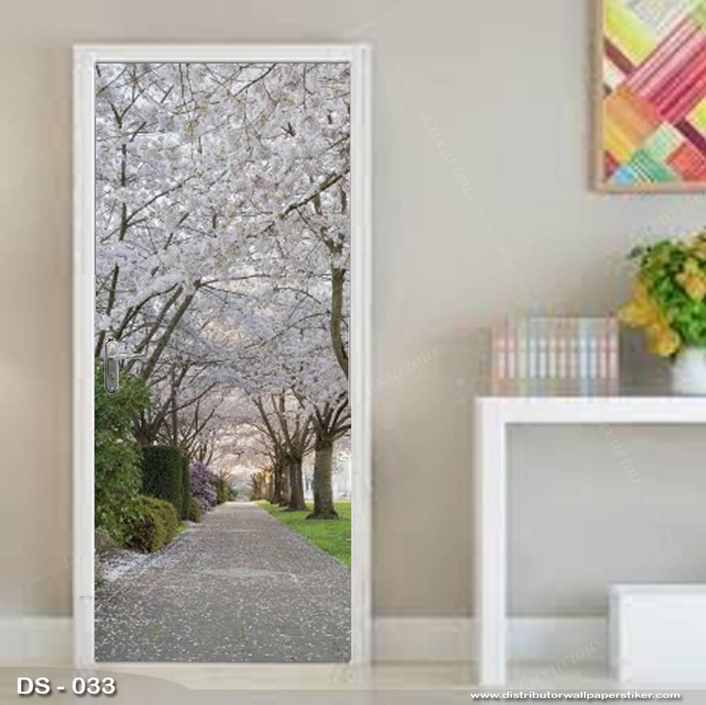 3D Door Sticker Custom | Uk 77 x 200 cm - DS - 033 Motif Nature0