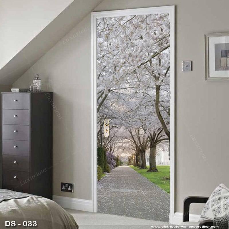 3D Door Sticker Custom | Uk 77 x 200 cm - DS - 033 Motif Nature1