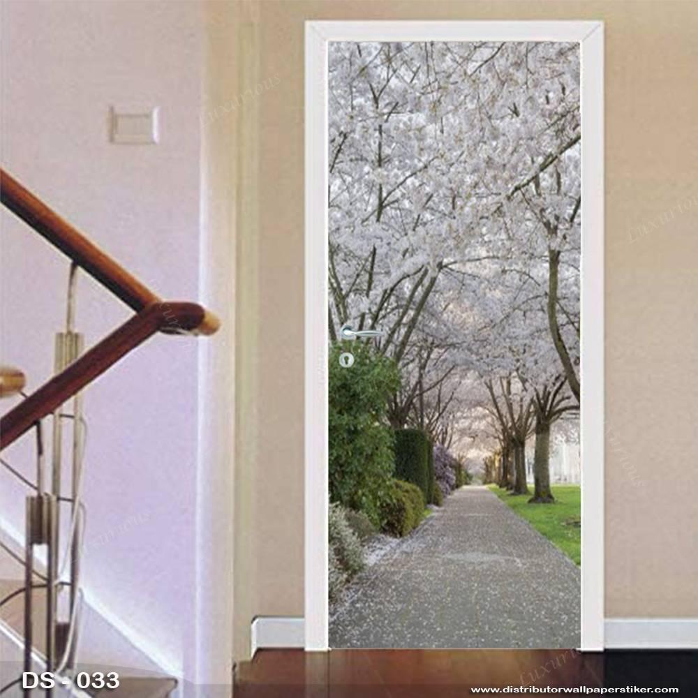 3D Door Sticker Custom | Uk 77 x 200 cm - DS - 033 Motif Nature2