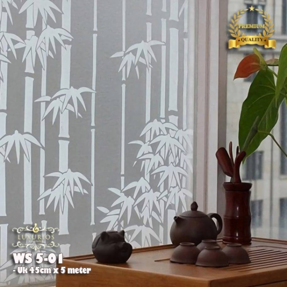 Window Sticker 45cm x 5m Stiker Kaca Motif Bambu | WS 5-010