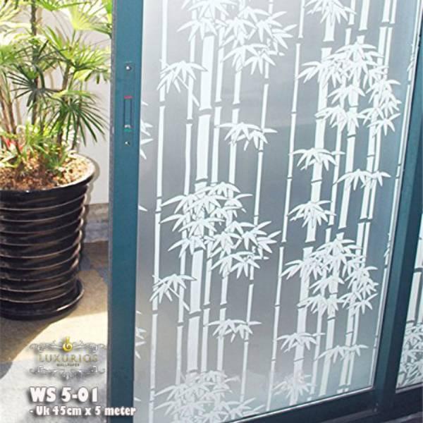 Window Sticker 45cm x 5m Stiker Kaca Motif Bambu | WS 5-011