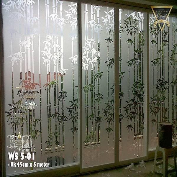 Window Sticker 45cm x 5m Stiker Kaca Motif Bambu | WS 5-012