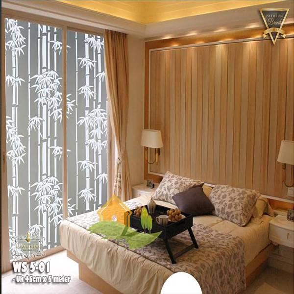 Window Sticker 45cm x 5m Stiker Kaca Motif Bambu | WS 5-013