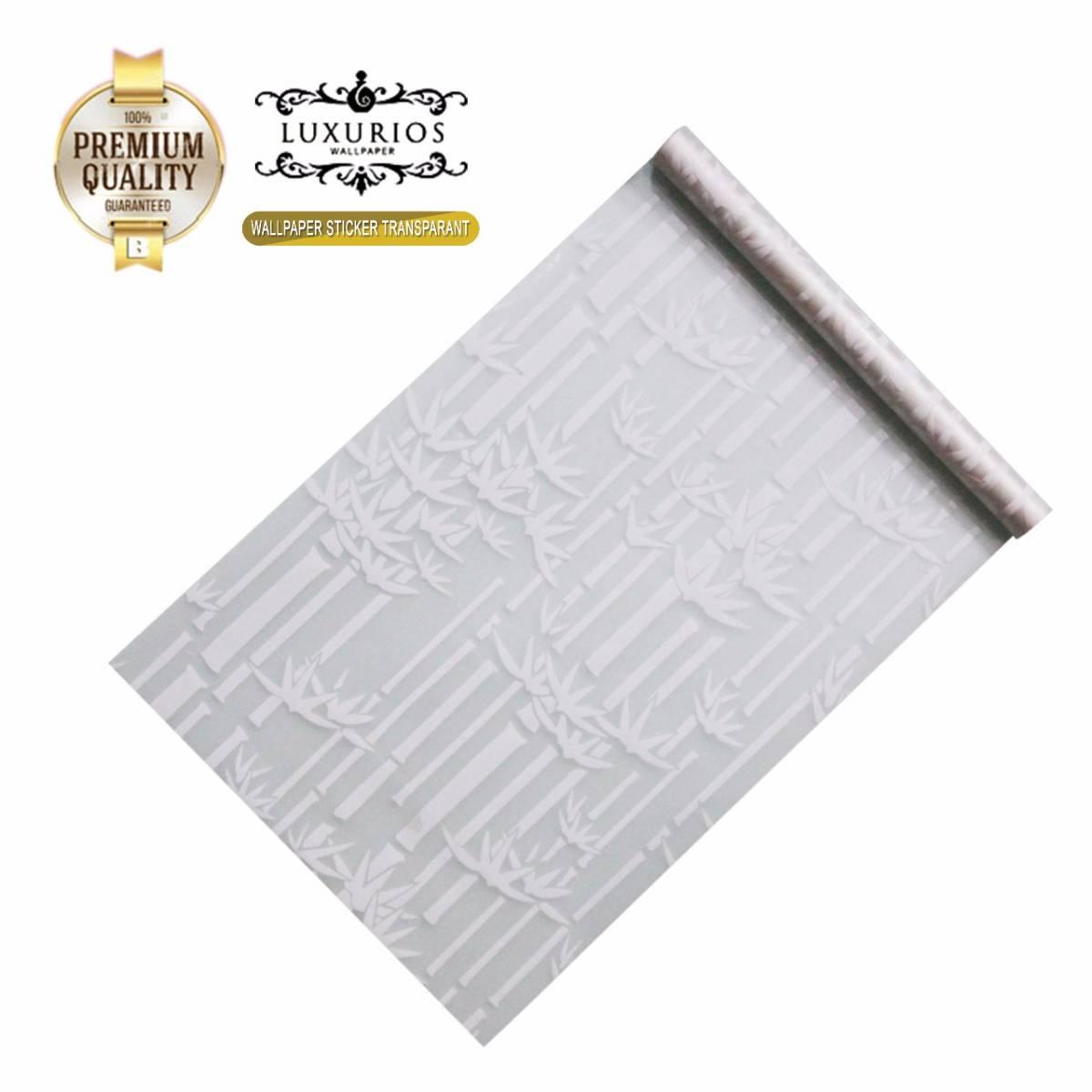 Window Sticker 45cm x 5m Stiker Kaca Motif Bambu | WS 5-014