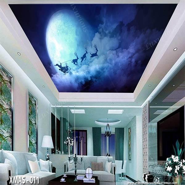 3D Wallpaper Custom Wallpaper Dinding Edisi Natal - XMAS - 0110