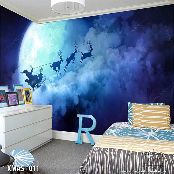 3D Wallpaper Custom Wallpaper Dinding Edisi Natal - XMAS - 0111