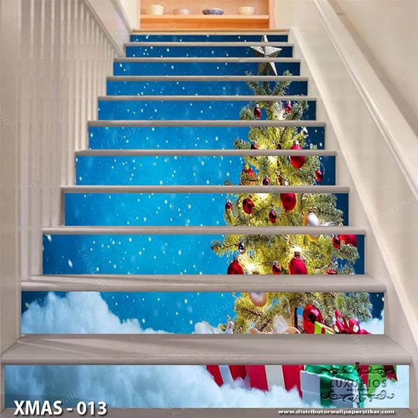 3D Stairway Custom Wallpaper | Edisi Natal - XMAS - 0130