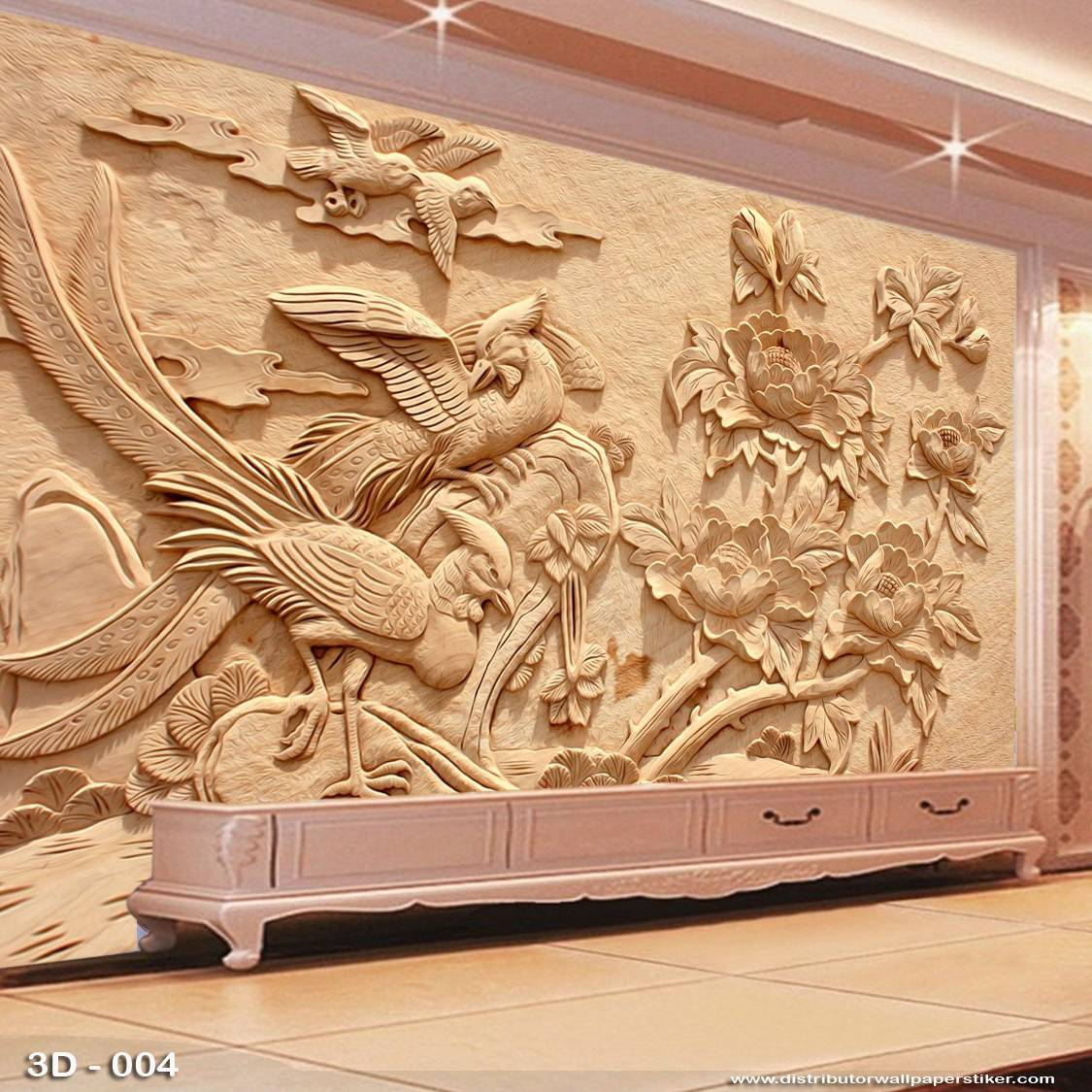 Wallpaper 3D Custom Dinding