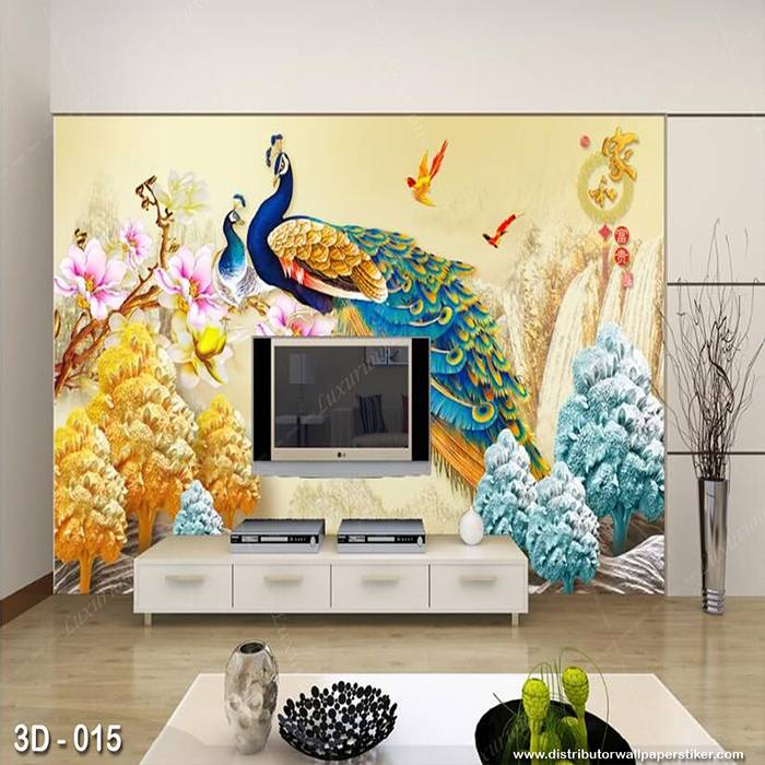 3D Wallpaper Custom Wallpaper Dinding | Motif Burung 3D - 015
