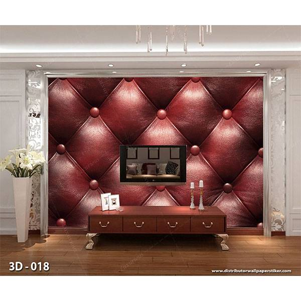 3D Wallpaper Custom Wallpaper Dinding | Motif Burung 3D - 018 Quilted Merah0