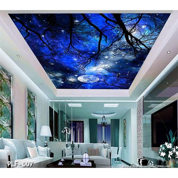 3D Custom Wallpaper Plafon - Motif langit malam | PLF - 0071