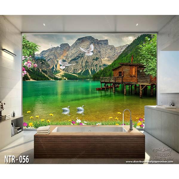 3D Custom Wallpaper Dinding - Motif  Pemandangan Danau | NTR - 0560