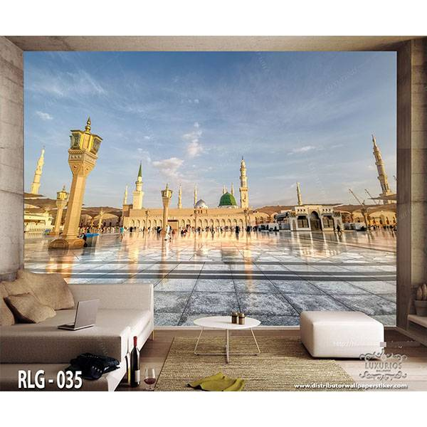 3D Custom Wallpaper Dinding - Motif Islami | RLG - 0351