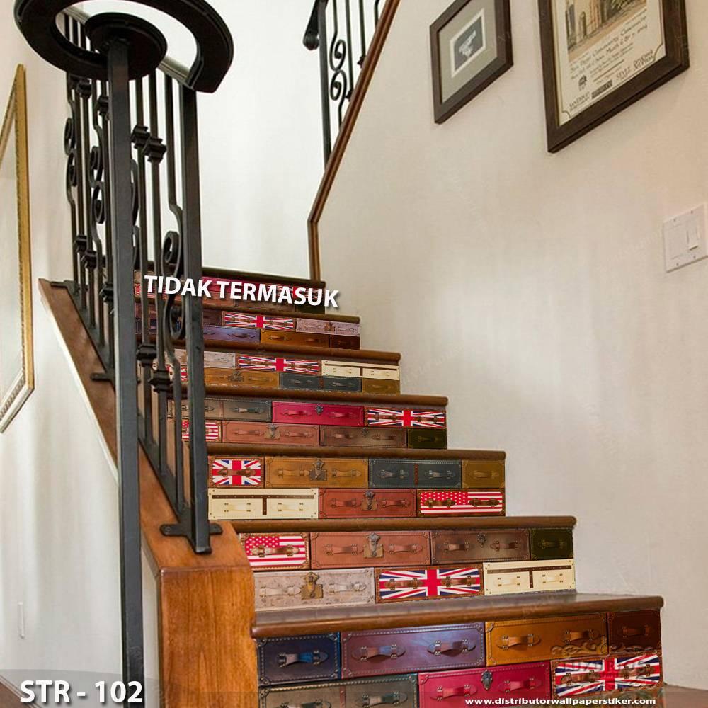 3D Stairway Wallpaper Custom - Tangga | STR - 1020