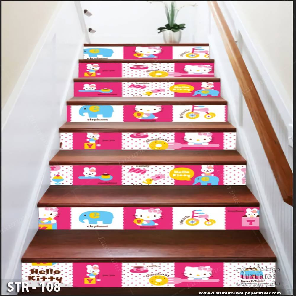3D Stairway Wallpaper Custom - Tangga | STR - 108